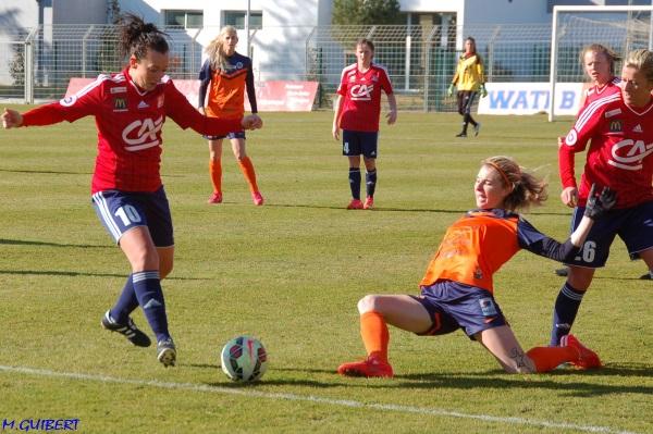 Marie Gosse et Arras ont connu un lourd revers face au Montpellier de Tonazzi (photo Marie Guibert)