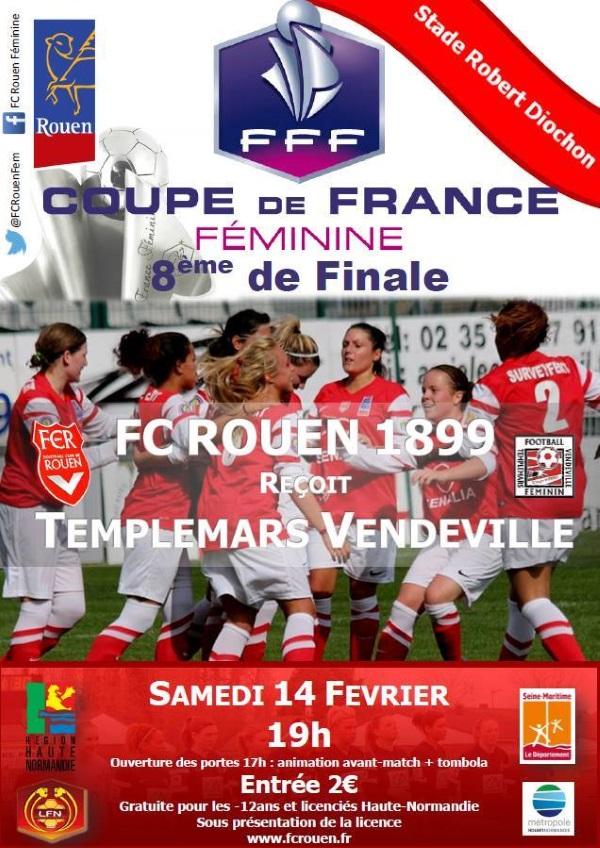 Coupe de France (Huitièmes de finale) - Le programme