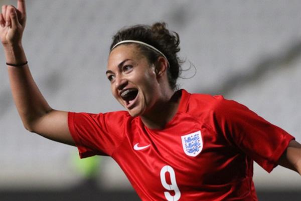 Triplé pour Jodie Taylor avec l'Angleterre (photo FA)