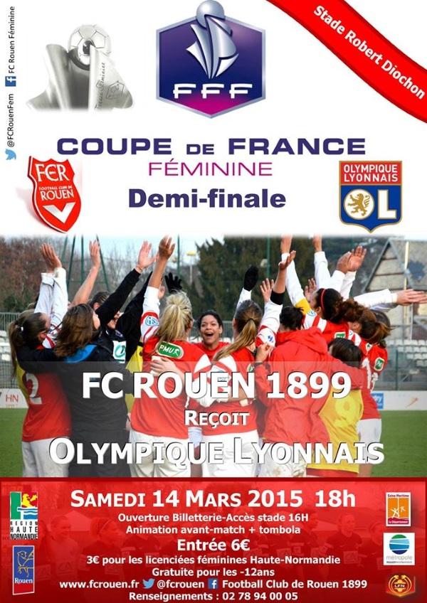 Coupe de France - Sarah NAHIM (Rouen) : « Si on peut faire douter l'Olympique Lyonnais, on ne va pas s'en priver »