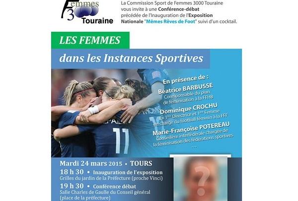 Conférence - Débat : « Les Femmes dans les Instances Sportives » ce mardi 24 mars à Tours (19h30)