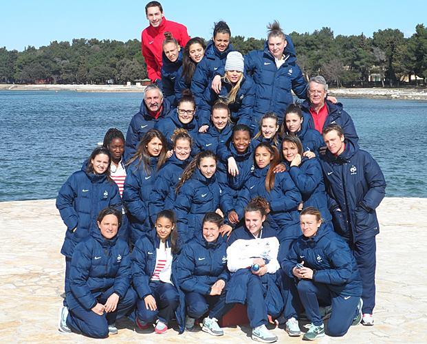 Les Françaises lors de la préparation en Croatie (photo FFF)
