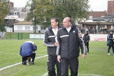 C. Rioust et R. Devienne, coachs arrageois (photo Christophe Grès)
