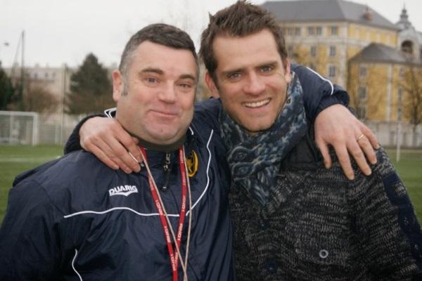 Avec Alain, son premier coach... décédé cette semaine et à qui Jérôme a tenu à dédier cette interview. (Crédit photo : site officiel FCPR92)