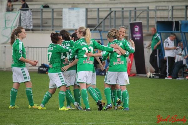 Les Vertes ont dominé Soyaux sur le score de deux buts à zéro (Photo Facebook ASSE Féminines)