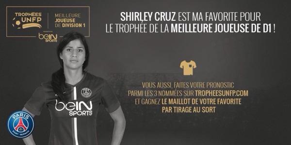 Trophée UNFP - Shirley CRUZ, Eugénie LE SOMMER et Lotta SCHELIN nommées