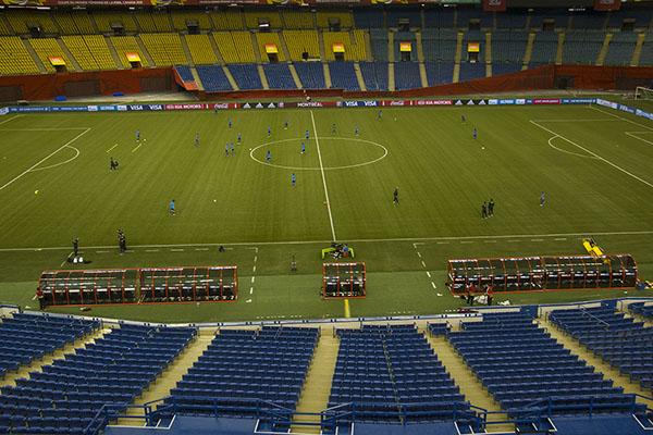 À l'entraînement, les Brésiliennes doivent réapprendre à jouer avec Marta, souvent absente en sélection nationale.