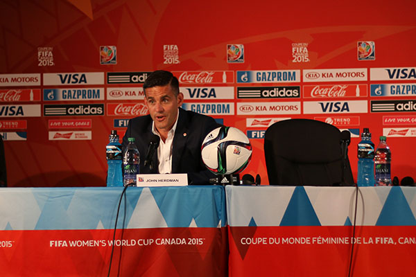 Le sélectionneur John Herdman a remercié le public québécois pour son accueil mais il préfère les matches à Vancouver