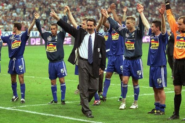Denis Troch, au premier plan, finaliste de la coupe de la Ligue en 2001 avec Amiens.