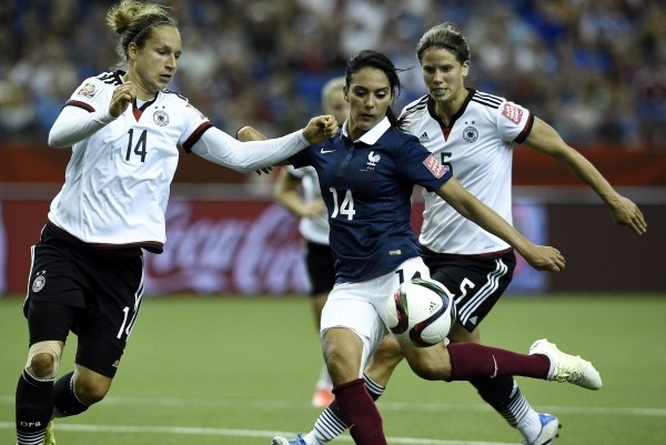 Louisa Necib a ouvert le score pour les Bleues (photo FIFA.com)