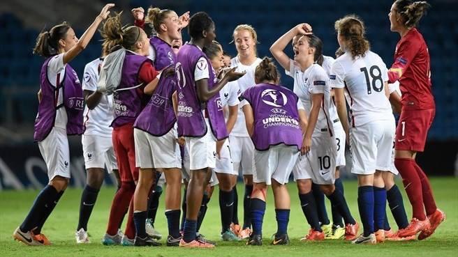 """Les Françaises tenteront de """"venger"""" la sélection U17 battue par l'Espagne en demi-finale (photo UEFA)"""