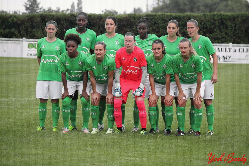 Les Stéphanoises lors du match face à Rodez à Volvic (photo Yoel Bardy)