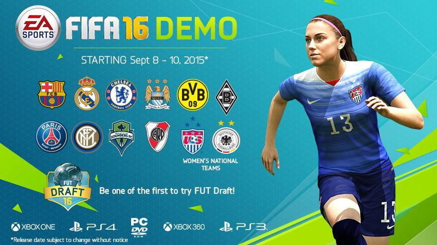 FIFA 16 - La démo jouable avec ETATS-UNIS - ALLEMAGNE