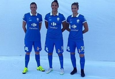 Trois gardiennes connaissant le niveau de la D1 (photo club)