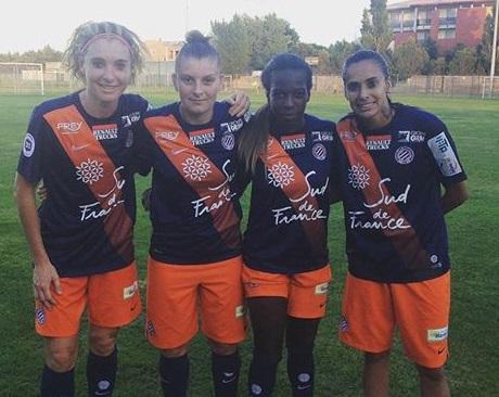Tonazzi, Léger, Asseyi et Andressa Alves (photo MHSC)