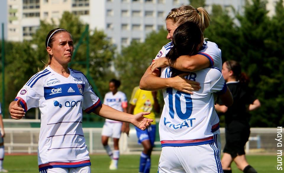 Lyon débute par une victoire 7-0 (photo Maya Mans/olfootfeminin.com)