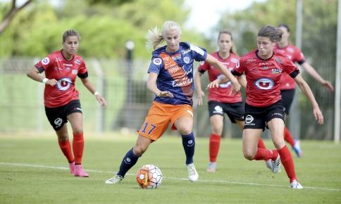 Sofia Jakobsson a clôturé le match par un troisième but (photo MHSC)