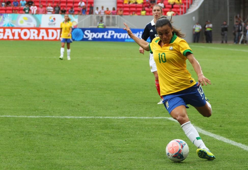 Après le match à Gerland, le Brésil et Marta seront au Havre (photo CBF)