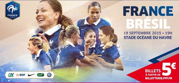 Bleues - FRANCE - BRESIL : le public présent pour cette nouvelle saison