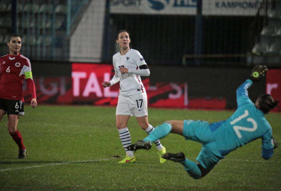 Le Bihan a inscrit ses trois premiers buts en A (photo A Mesa/FFF)