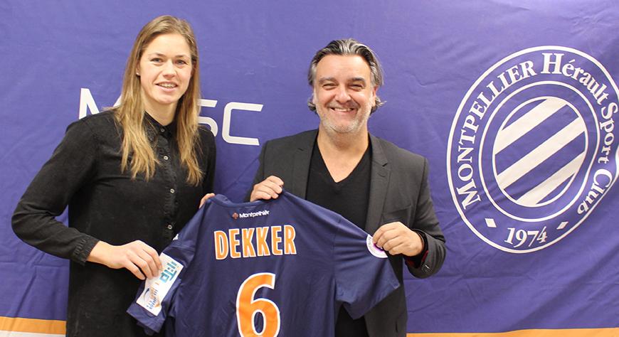 Anouk Dekker avec Laurent Nicollin (photo MHSC)