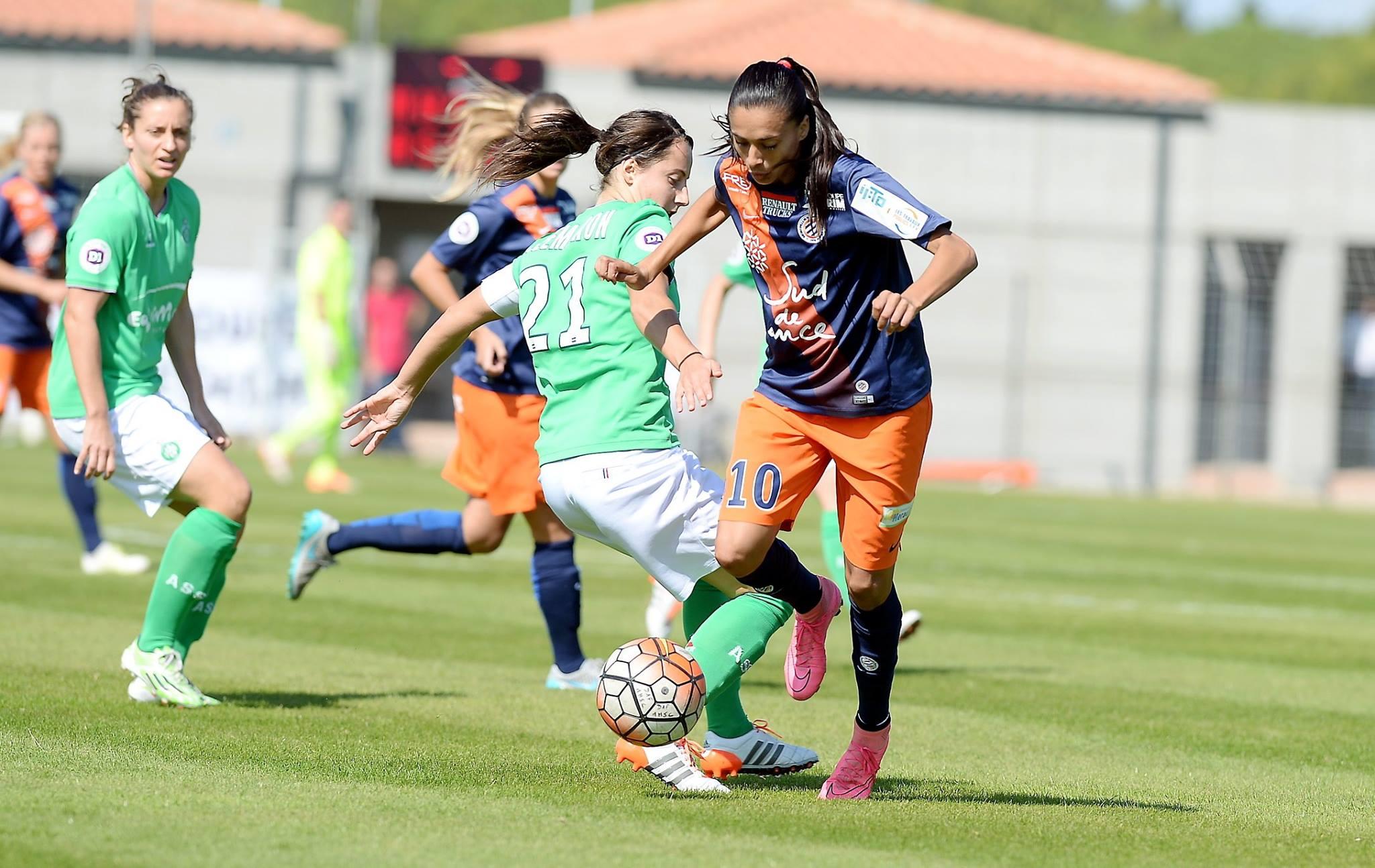 La Montpelliéraine Andressa Alves lors du match aller face à Saint-Etienne (photo MHSC)