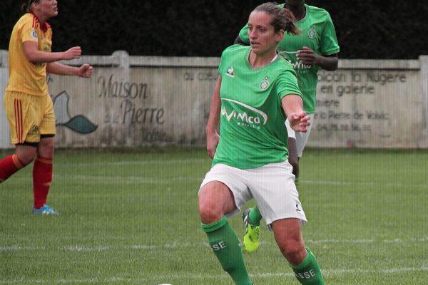 Julie Peruzzetto a inscrit son neuvième but de la saison (photo Yoël Bardy/ASSE féminines)