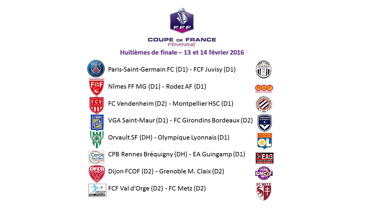 Coupe de France (8es) - DIJON, METZ et six D1 au rendez-vous des quarts