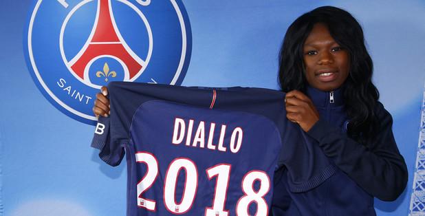 Diallo est Parisienne pour deux ans (photo PSG.fr)