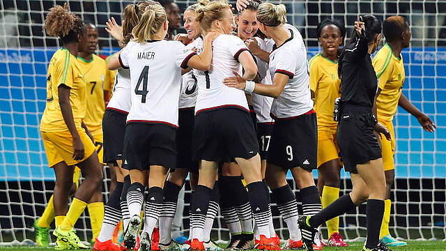 L'Allemagne déroule en seconde période (photo DFB)