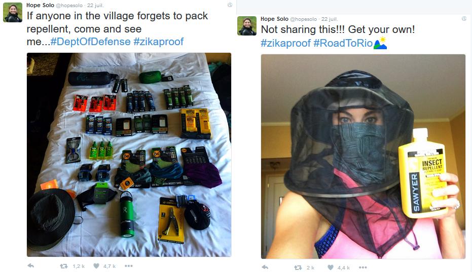 Les tweets postés par Hope Solo le 22 juillet dernier...