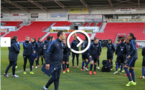 Bleues - La séance d'entrainement à Doncaster (FFF TV)