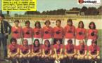 Nadine Juillard, debout à droite, avec le Stade de Reims, premier champion de France en 1975