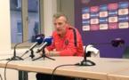 Patrice Lair lors de la conférence de presse (photo PSG)