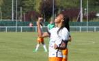 Lindsey Thomas auteur d'un doublé avec Montpellier face à Saint-Etienne (photo footofeminin.fr)