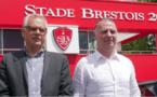 Christophe Taine, à droite (photo Stade Brestois)