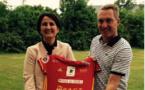La Présidente Annie Cluzel et le nouvel entraîneur Grégory Mleko (photo RAF)