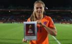 Lieke Martens, joueuse du match contre la Belgique et la Norvège