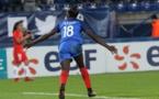 Après le but de la victoire face au Chili, Asseyi récidive contre l'Angleterre (photo FFF)