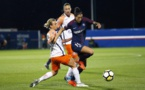 Hermoso à droite auteur de deux passes décisives qui ont surpris la défense de Montpellier, ici avec Torrent (photo PSG)