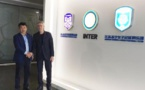 Gérard Prêcheur avec ses nouveaux dirigeants (photo DR)