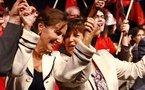 Ségolène Royal et Martine Aubry seront désormais les premières supportrices de l'équipe de France de Bruno Bini...
