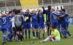 Jena fête sa qualification pour la finale (photo : Karin Reuter)