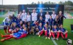 Les Françaises fêtent leur victoire (photo Soccer Network LLC)