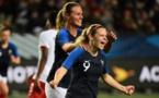 Le Sommer a de nouveau ouvert le score pour les Bleues (photo AFP)