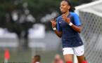 Emelyne Laurent a signé un doublé mardi (photo Magali Ruffato/festival-foot-espoirs.com)