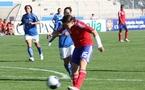 Sur cette reprise, Elise Bussaglia a égalisé pour les Bleues (photo : S. Duret)
