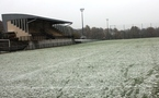 La neige a recouvert le terrain de Saint-Herblain (Photo : Sébastien Duret)