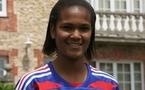 Wendie Renard avec le maillot U19 en 2008 (photo : S. Duret)