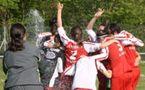 Les Alsaciennes ont dignement fêté la montée en D2 (Photos : Agathe Lacombe)